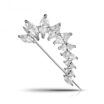 Брошь SOKOLOV из серебра с фианитами