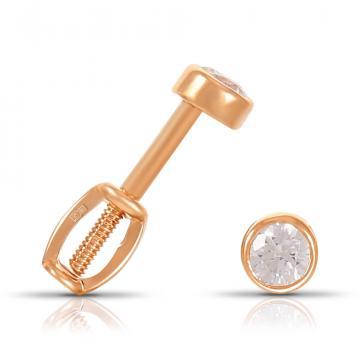 Серьги-пусеты TALANT из золота с кристаллом SWAROVSKI
