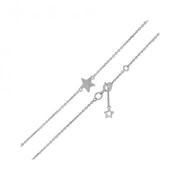 Браслет на ногу (анклет) TALANT Звезда из серебра