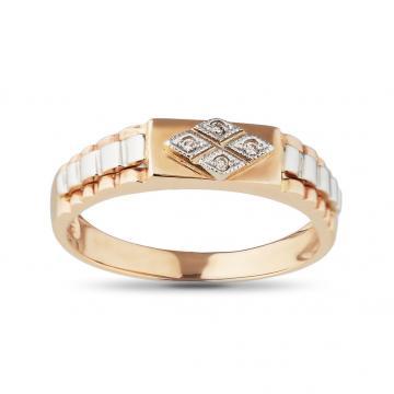 Кольцо - печатка из золота с бриллиантами