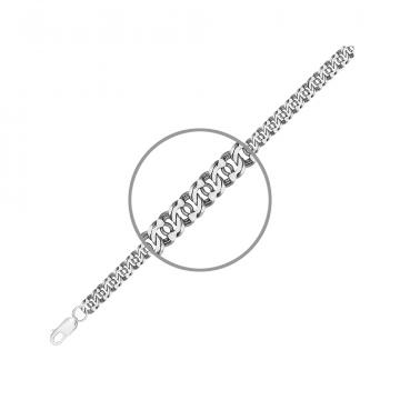 Цепочка, плетение Бисмарк арабский, из серебра