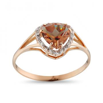 Кольцо из золота с султанитом и бриллиантами