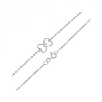 Браслет TALANT Сердце из серебра, коллекция Геометрия