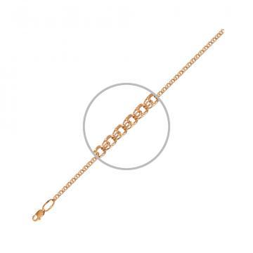 Цепочка, плетение Бисмарк, из золота