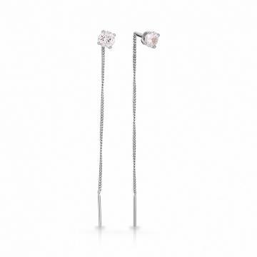 Серьги-продёвки TALANT из серебра с фианитами