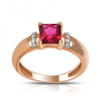 Кольцо TALANT из золота с рубеллитом и фианитами