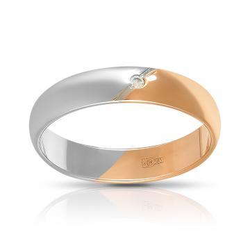Кольцо обручальное TALANT из золота с фианитом