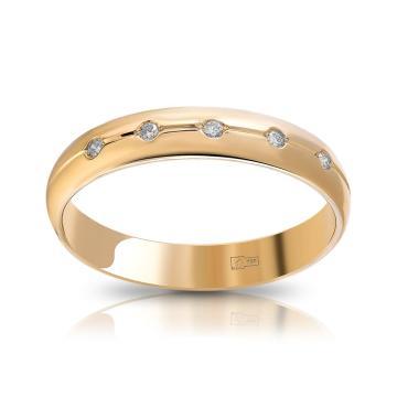 Кольцо обручальное TALANT из золота с бриллиантами