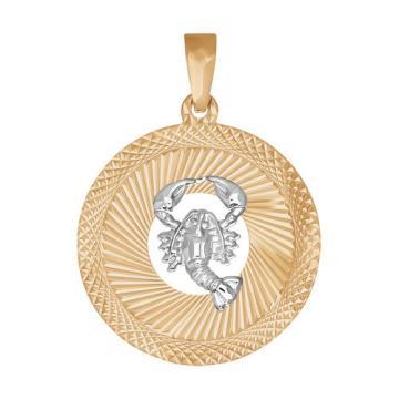 Подвеска SOKOLOV из золота, знак зодиака Рак