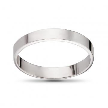 Кольцо обручальное из золота гладкое плоское , 3мм