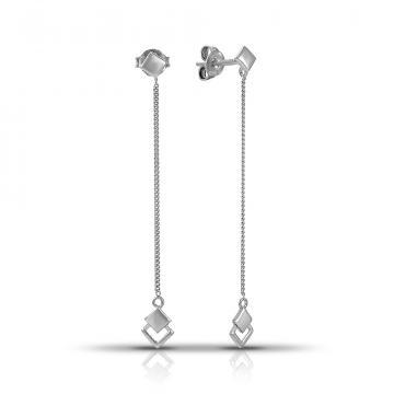 Серьги-пусеты детские TALANT из серебра, коллекция Геометрия