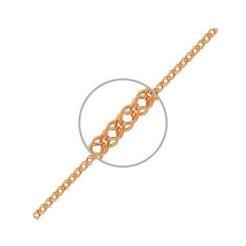 Цепочка, плетение Ромб двойной с алмазной гранью, из золота