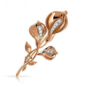 Брошь из золота с бриллиантами