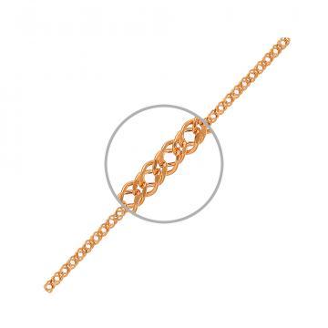 Браслет TALANT, плетение Ромб двойной, из золота