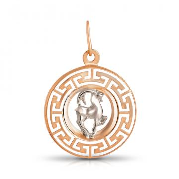 Подвеска из золота, знак зодиака Козерог