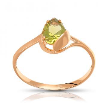 Кольцо из золота с хризолитом