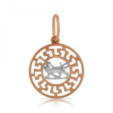 Подвеска TALANT из золота, знак зодиака Лев