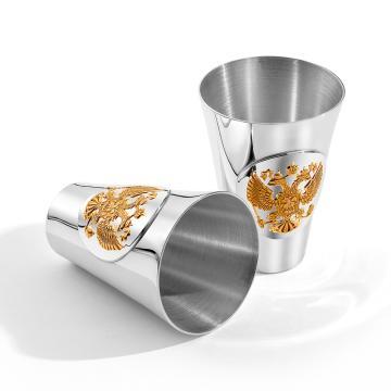 Набор стопок Герб (2 предмета) из серебра