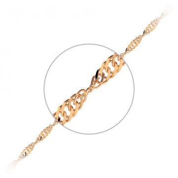Цепочка, плетение Сингапур, из золота