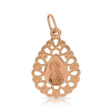 Подвеска-икона Святая блаженная Ксения Петербургская из золота