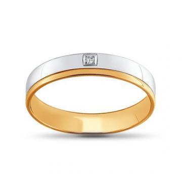 Кольцо обручальное SOKOLOV из золота с бриллиантом