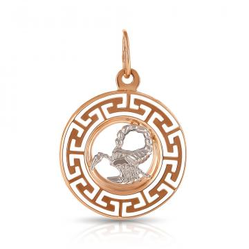 Подвеска из золота, знак зодиака Скорпион
