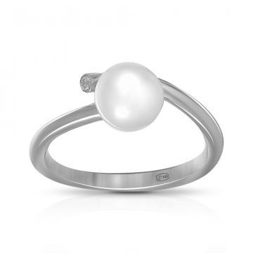 Кольцо TALANT из серебра с жемчугом и фианитом