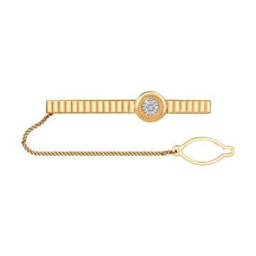 Зажим для галстука SOKOLOV из золота с бриллиантами