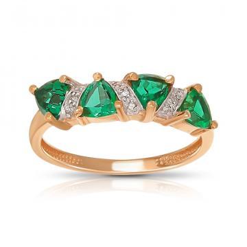 Кольцо TALANT из золота с изумрудами и бриллиантами