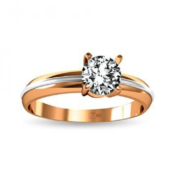 Кольцо из золота с муассанитом (аналог бриллианта)