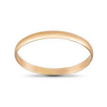 Кольцо обручальное гладкое из золота, 2 мм