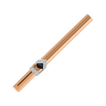Зажим для галстука из золота с ониксом и бриллиантами