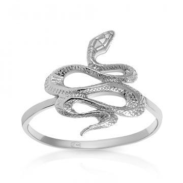 Кольцо Змея из серебра