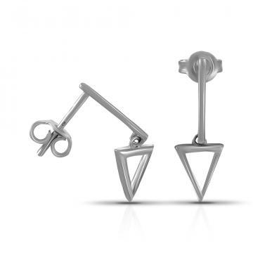 Серьги-пусеты TALANT из серебра,коллекция Геометрия