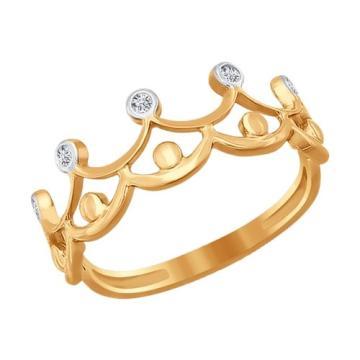Кольцо SOKOLOV из золота с фианитами
