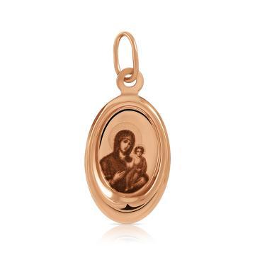 Подвеска-икона Смоленской Божией Матери из золота