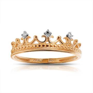 Кольцо SOKOLOV детское из золота с бриллиантами