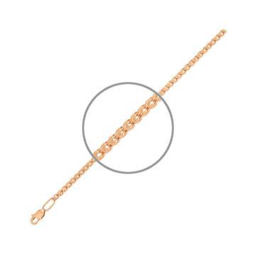 Цепочка, плетение Шнурок, из золота, 4 мм