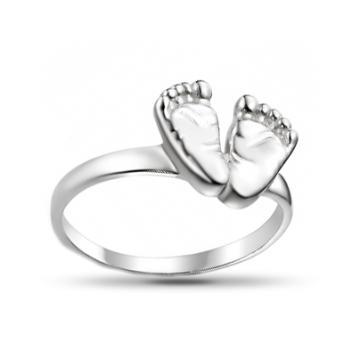 Кольцо Пяточки из серебра