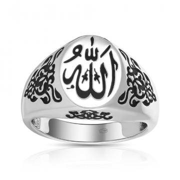 Кольцо-печатка TALANT Ислам из серебра