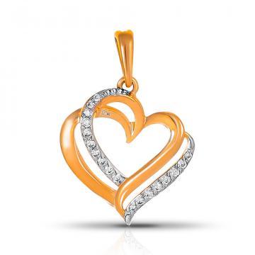 Подвеска SOKOLOV Сердце из золота с фианитами