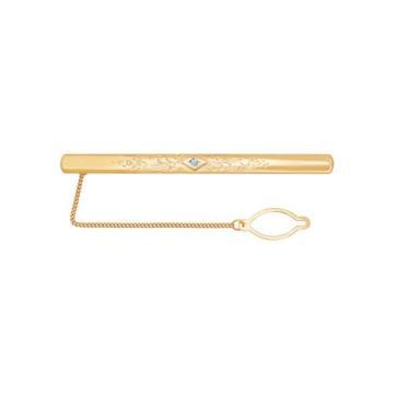 Зажим для галстука SOKOLOV из золота с фианитами