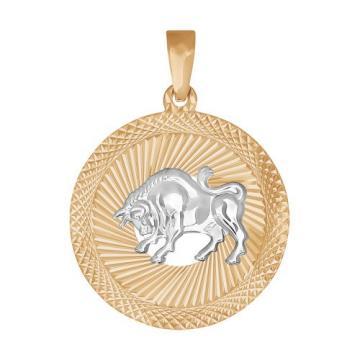 Подвеска SOKOLOV из золота, знак зодиака Телец