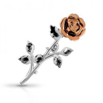Брошь Роза из серебра