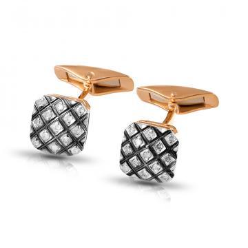 Запонки из золота с бриллиантами