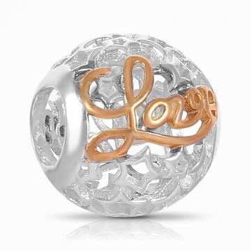 Подвеска-шарм LOVE из серебра