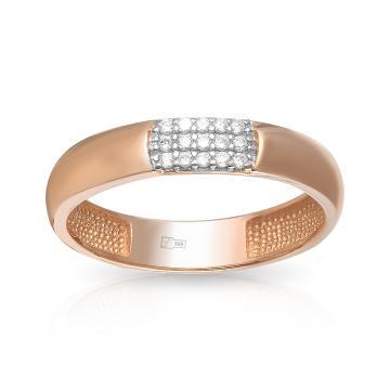 Кольцо обручальное TALANT из золота с фианитами