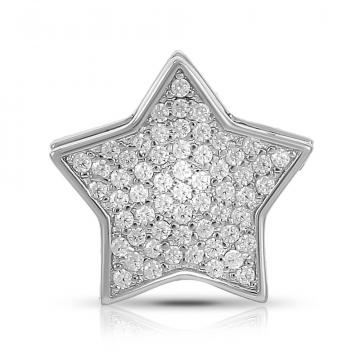 Подвеска-шарм Звёздочка из серебра с фианитами