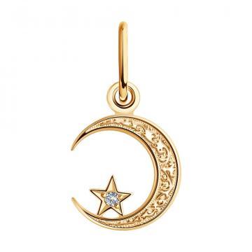 Подвеска мусульманская SOKOLOV из золота с фианитом