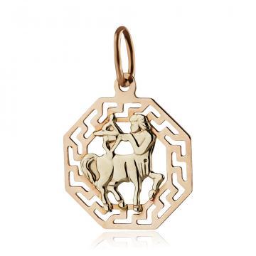 Подвеска из золота, знак зодиака Стрелец